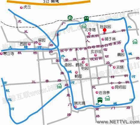 拙政园地图