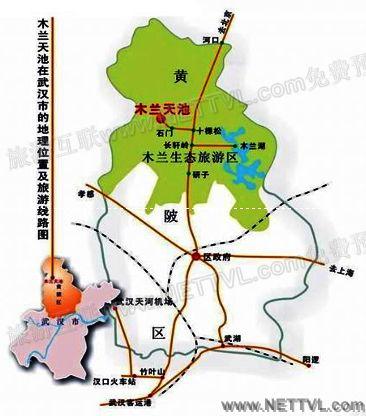 庐山风景区手绘地图