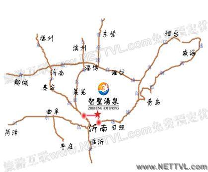 青岛到智圣汤泉旅游度假村自驾车路线:   a,青岛市-胶州湾高速-同三