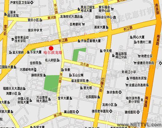 哈尔滨龙塔地图_黑龙江广播电视塔交通地图【旅游互联
