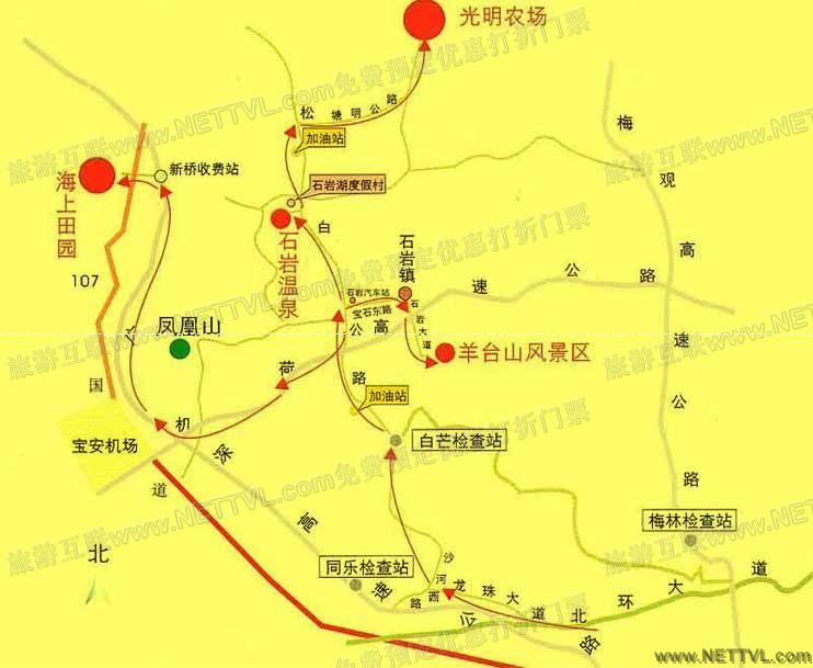 光明滑草场地图(深圳光明农场滑草场交通地图图片