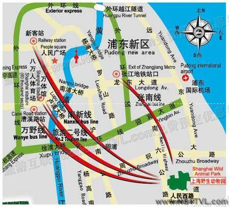 上海野生动物园地图_上海野生动物园交通地图【旅游