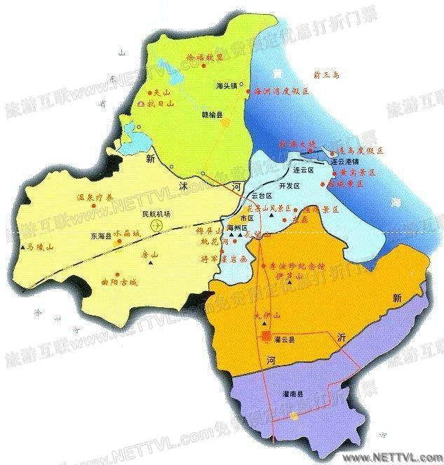 首页 旅游地图 景点交通图 江苏旅游地图 连云港旅游地图