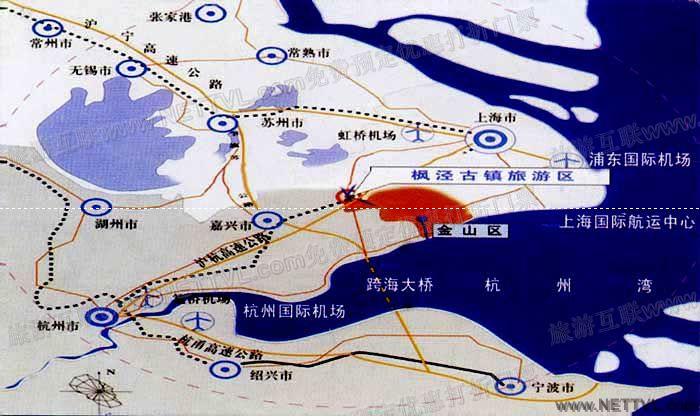 枫泾古镇地图上海枫泾古镇交通地图【旅游互联】