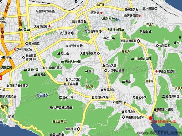 老虎滩海洋公园地图(大连老虎滩海洋公园旅游地图