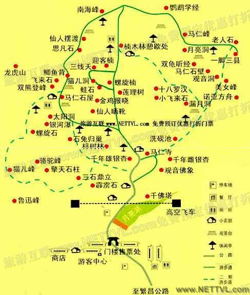 马仁奇峰地图