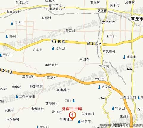 三王峪风景区地图(济南三王峪交通地图