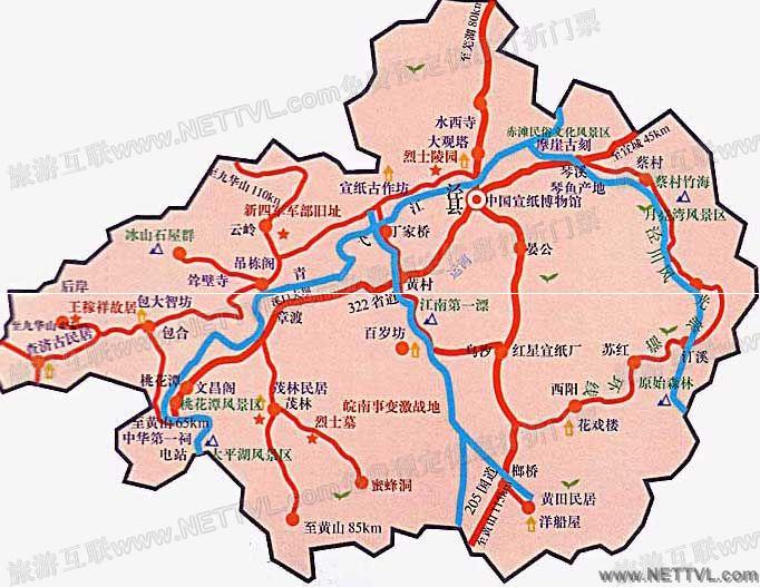 安徽宣纸文化园地图(安徽泾县宣纸文化园交通地图