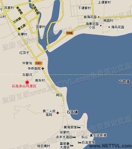 石岛赤山地图(威海石岛赤山交通地图