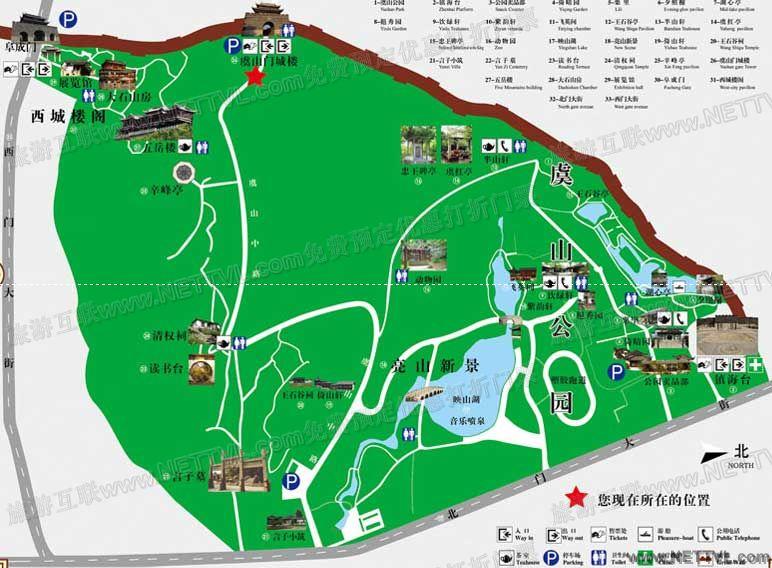 西城楼阁地图(虞山西城楼阁导游图