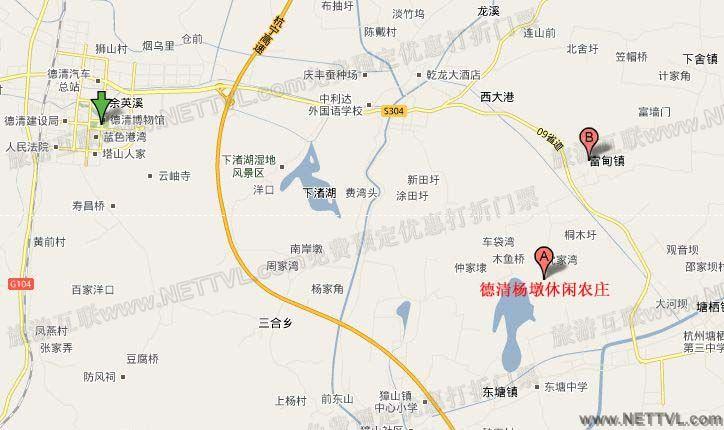 杭州莫干山路—104国道—良渚—转塘栖,临平方向—良塘公路—塘栖五叉
