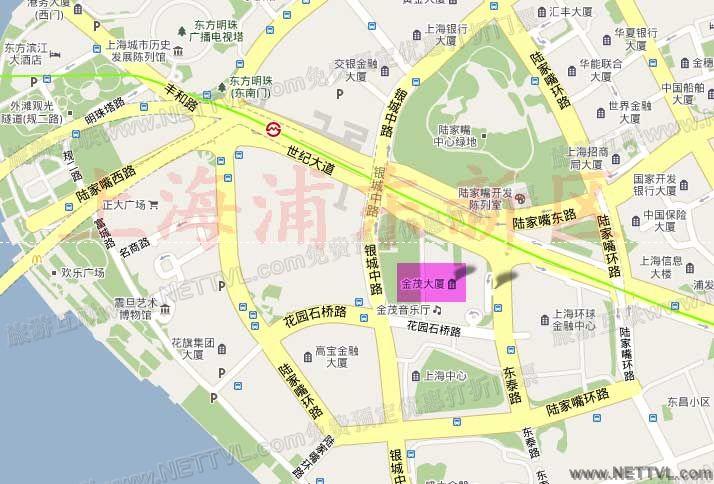 金茂大厦地图_上海金茂大厦88层观光厅交通地图【旅游