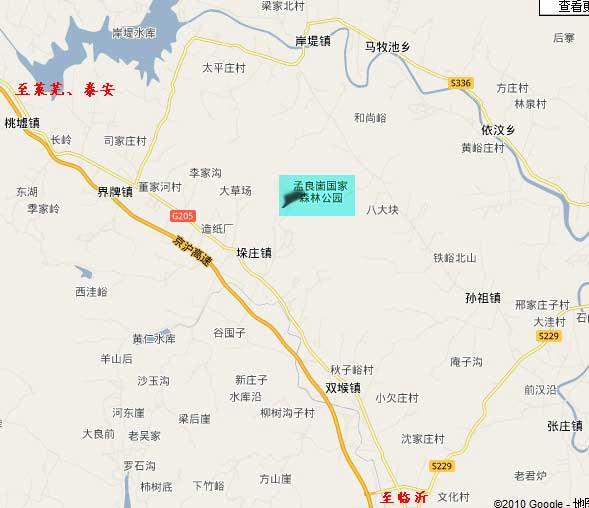 孟良崮地图(孟良崮旅游区交通地图