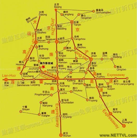 焦作影视城地图(河南焦作影视城交通地图 - 打印页