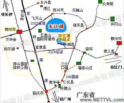 东江湖漂流地图_郴州东江湖漂流交通地图【旅游互联】