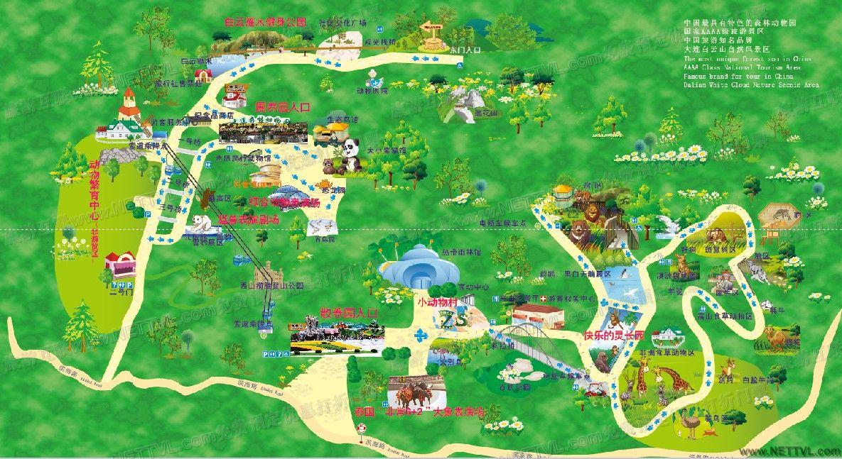 大连森林动物园地图