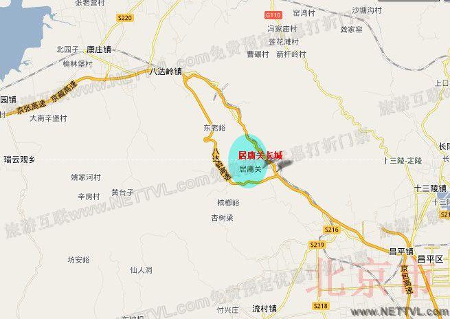 居庸关长城地图(北京居庸关长城交通地图
