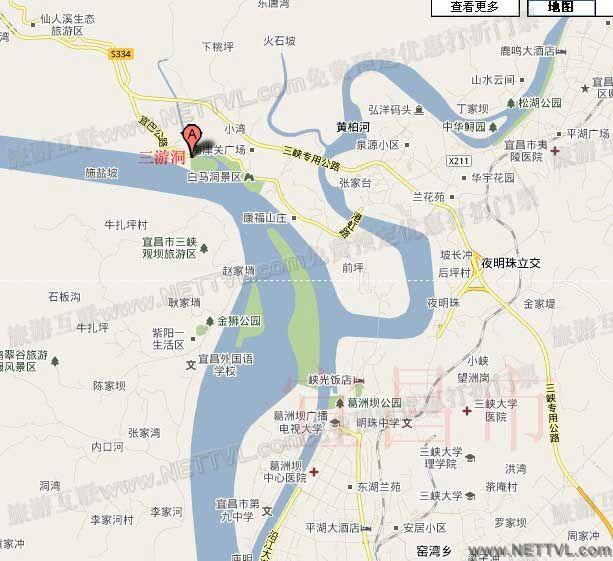 三游洞风景区地图(宜昌三游洞交通地图