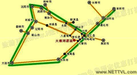 大雅河漂流地图(本溪桓仁大雅河漂流交通地图 - 打印