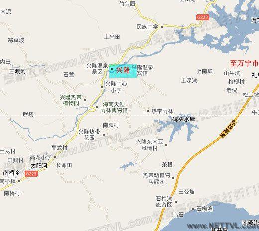 旅游地图 景点交通图 海南旅游地图 海南天涯热带雨林博物馆地图(万宁