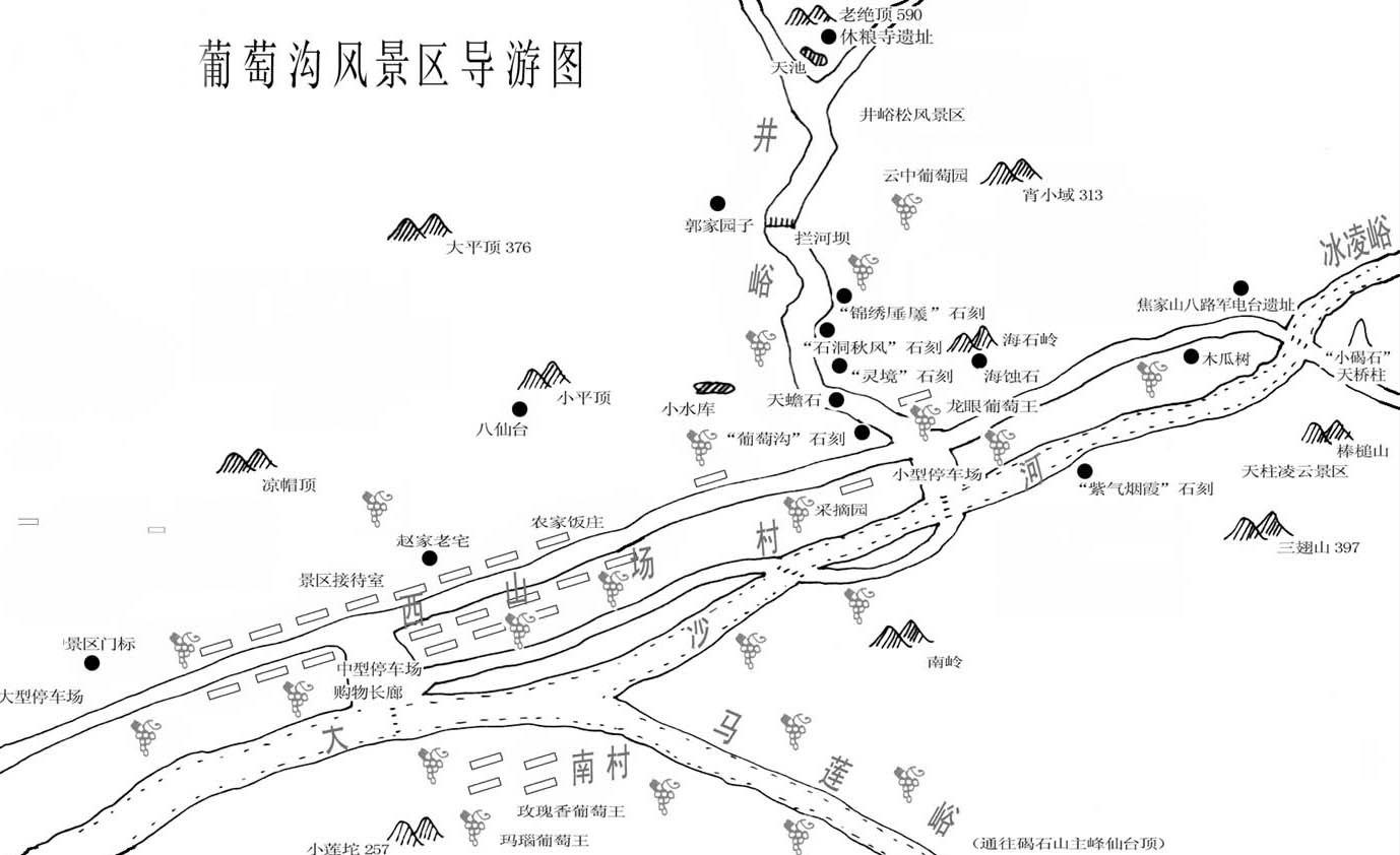 新疆葡萄沟旅游地图
