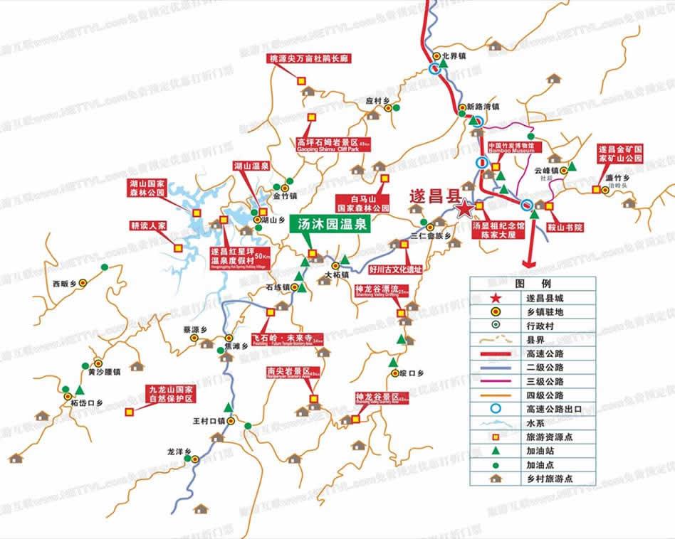 山东风景区地图