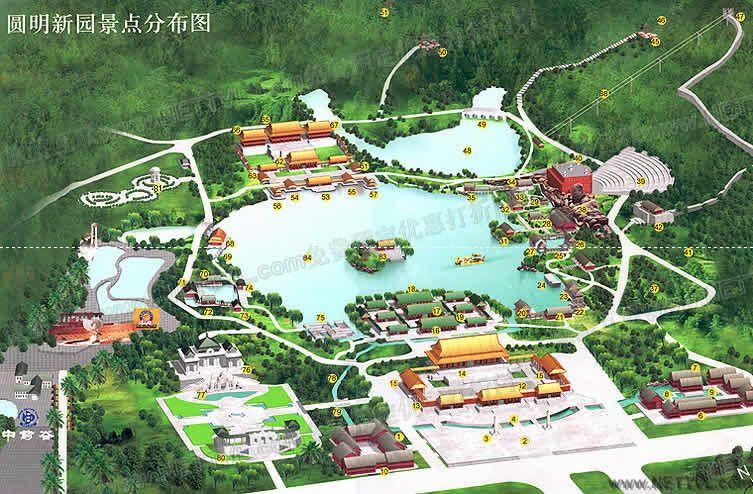 珠海圆明新园导游图(珠海圆明新园旅游地图