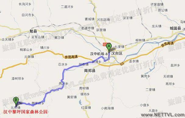 黎坪森林公园地图(陕西黎坪国家森林公园交通图