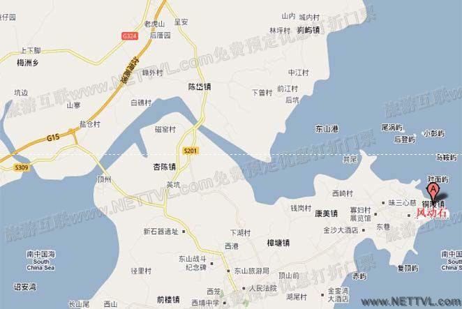 东山风动石地图_漳州风动石交通地图【旅游互联】