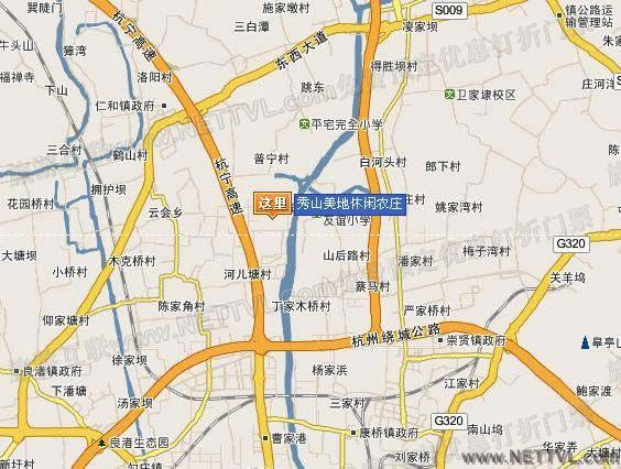 临平出口右转   杭州—良渚—仁和—余杭高新农业示范中心—秀山美地