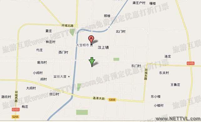 泰山风景区游览路线图