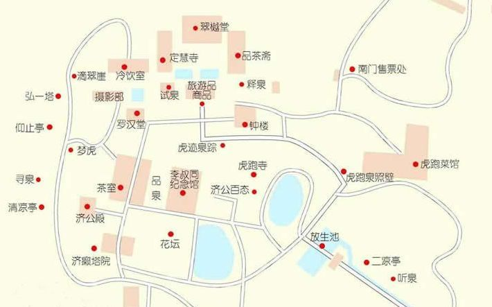 虎跑梦泉旅游地图_杭州西湖虎跑梦泉景区地图【旅游
