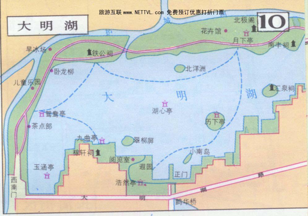 首页 旅游地图 景点导游图 山东旅游景点地图 大明湖导游地图