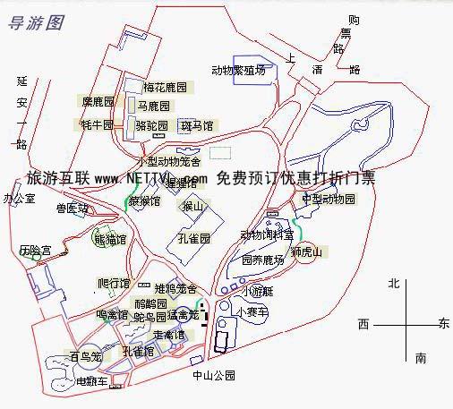 青岛动物园导游地图