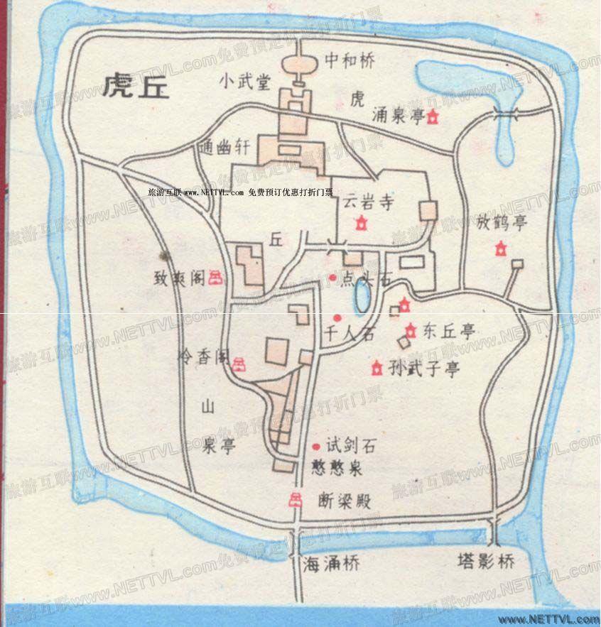 虎丘导游地图(苏州虎丘旅游地图