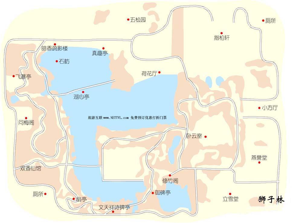 首页 旅游地图 景点导游图 江苏旅游景点地图 狮子林导游地图   苏州