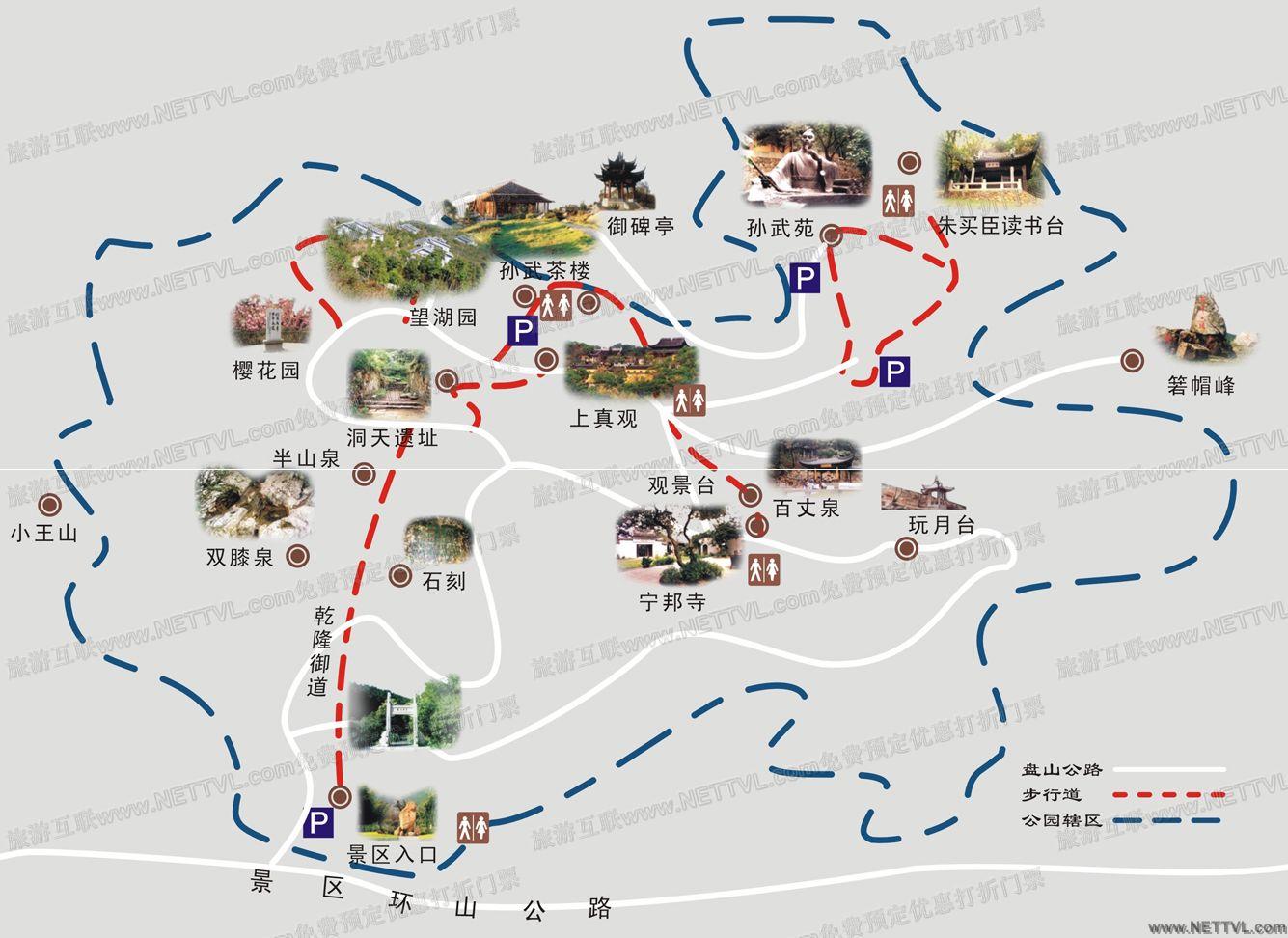 首页 旅游地图 景点导游图 江苏旅游景点地图 穹窿山导游地图   苏州
