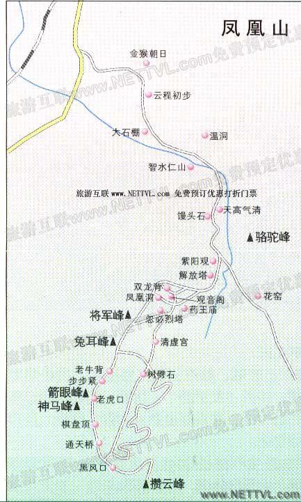朝阳凤凰山旅游地图_辽宁朝阳凤凰山景区地图【旅游