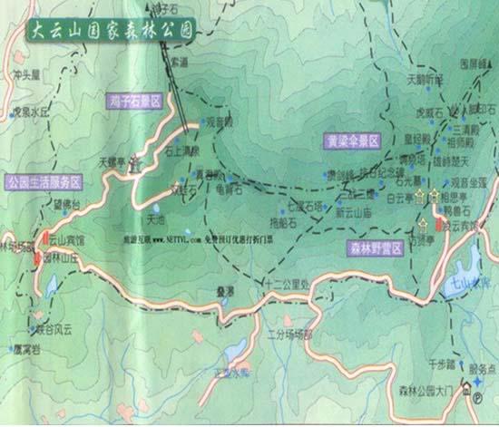大云山国家森林公园导游地图