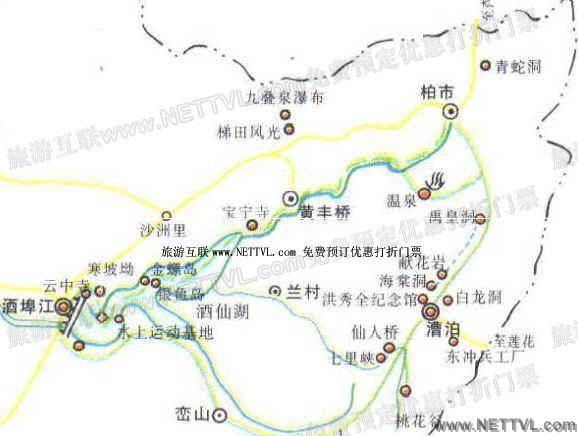 首页 旅游地图 景点导游图 湖南旅游景点地图 攸县酒埠江导游地图