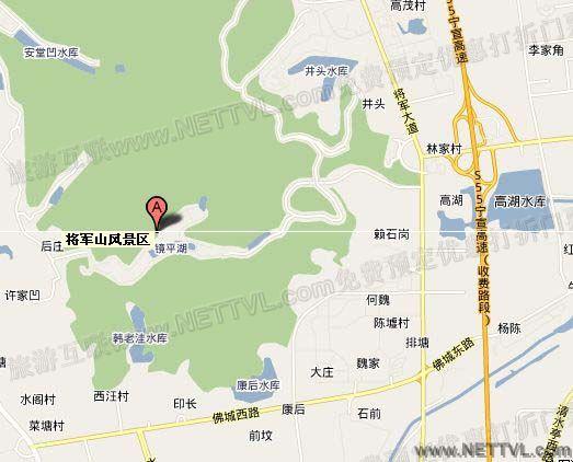 首页 旅游地图 景点交通图 江苏旅游地图 南京将军山地图   南京将军