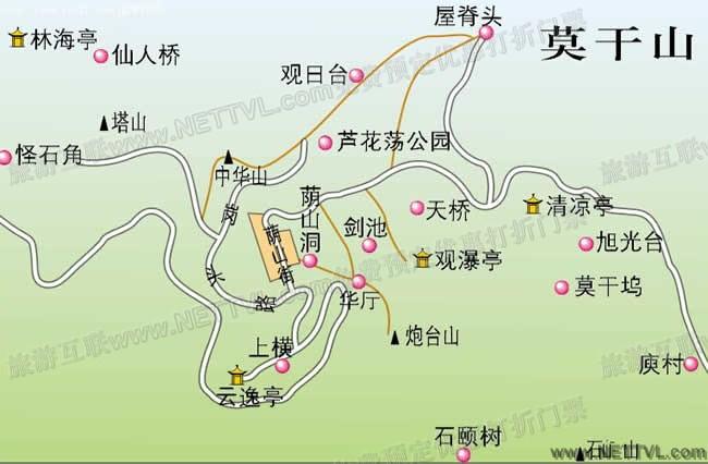 德清莫干山导游地图(莫干山旅游地图