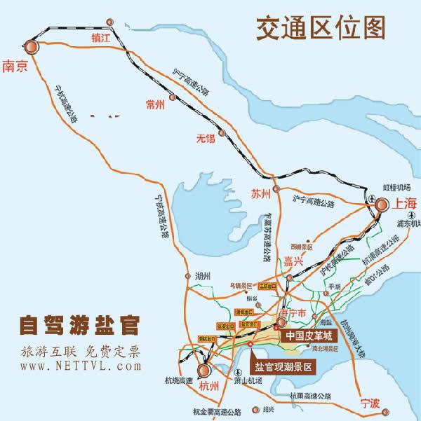 海宁盐官观潮景区地图