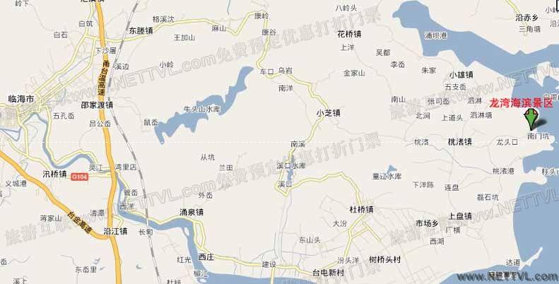 首页 旅游地图 景点交通图 浙江旅游地图 桃渚龙湾海滨景区地图