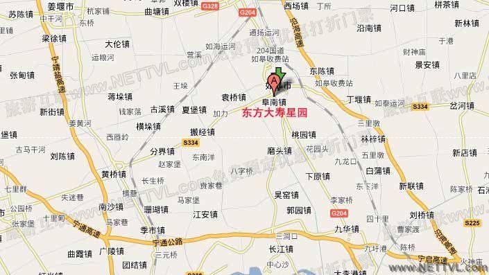 东方大寿星园地图(如皋东方大寿星园交通地图