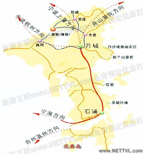 花岙岛地图(宁波象山花岙岛交通地图