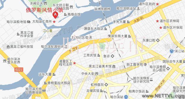 俄罗斯风情小镇地图(哈尔滨太阳岛俄罗斯风情小镇交通地图