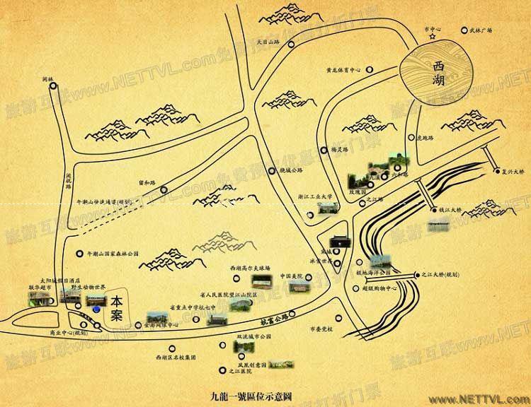 杭州野生动物世界地图(杭州野生动物园交通地图