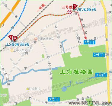 上海植物园地图(上海国家植物园交通地图