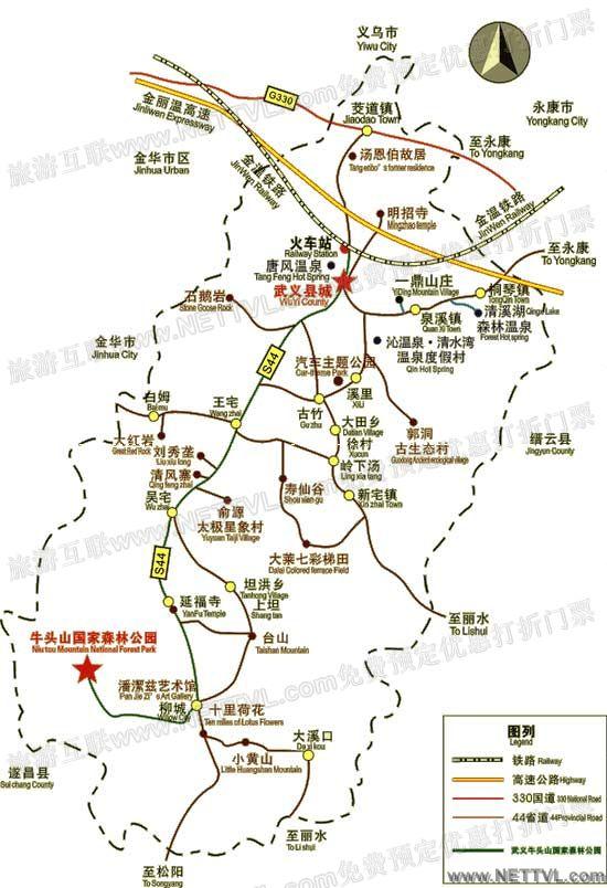浙江牛头山地图